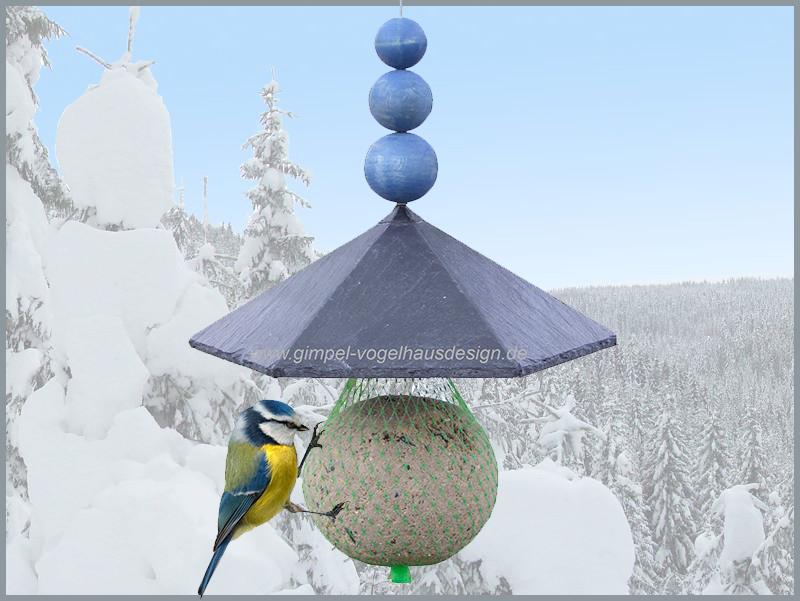 Knödeldach Pavillon 21 cm, Kugel, blau, Logo-Hintergrund_cl