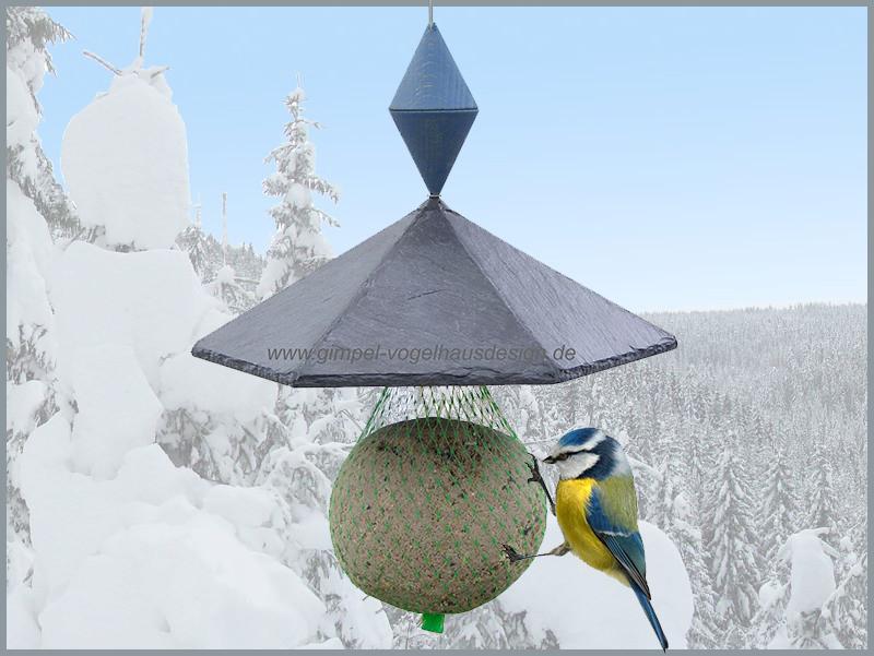 Pavillon 6-Eck, 21 cm, Kegel, blau,Logo,Hintergrund_cl