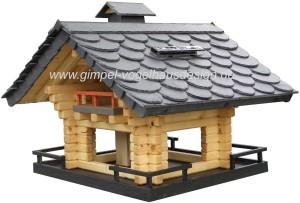 Vogelhaus Schiefer mit Solarbeleuchtung